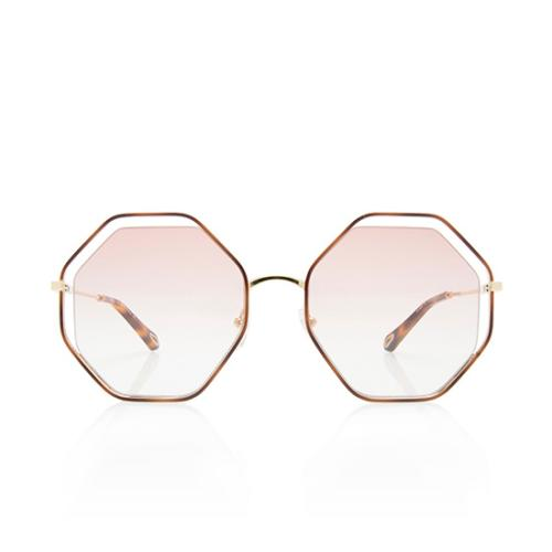 Chloe Octagonal Poppy Halo Lens Sunglasses