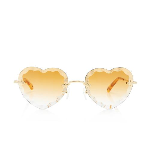 Chloe Roise Heart Scalloped Sunglasses