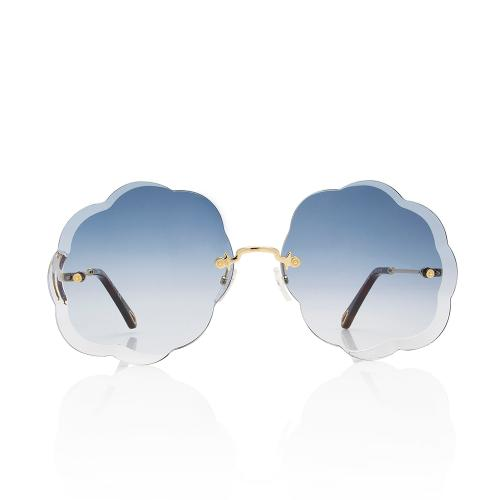 Chloe Scalloped Round Sunglasses