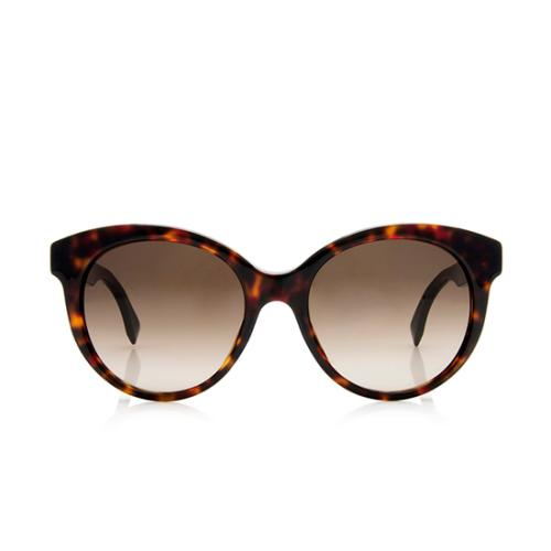 Fendi Cat-Eye Striped Sunglasses