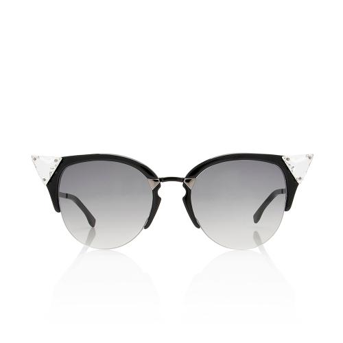 Fendi Crystal Cat Eye Sunglasses