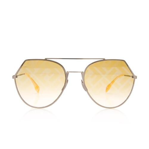 Fendi FF Mirrored Aviator Sunglasses