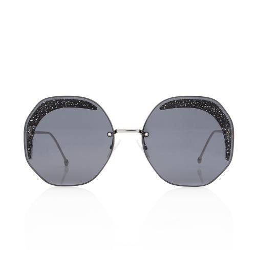 Fendi Glitter Round Sunglasses