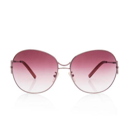 Fendi Oversized Crystal Logo Sunglasses