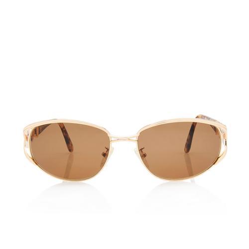 Fendi Vintage Logo Round Sunglasses