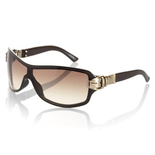 Gucci Buckle Shield Sunglasses