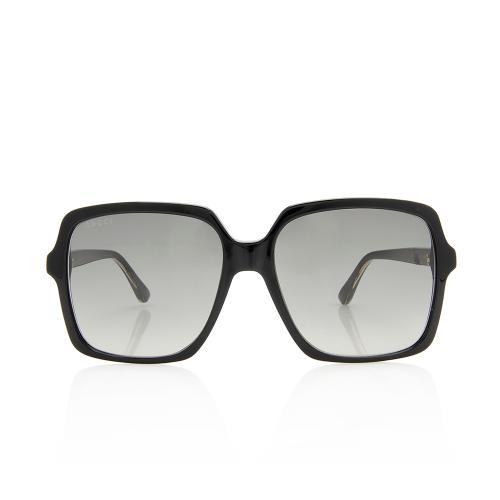 Gucci GG Web Logo Square Sunglasses