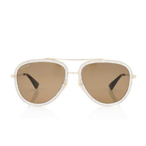 Gucci Glitter Aviator Sunglasses