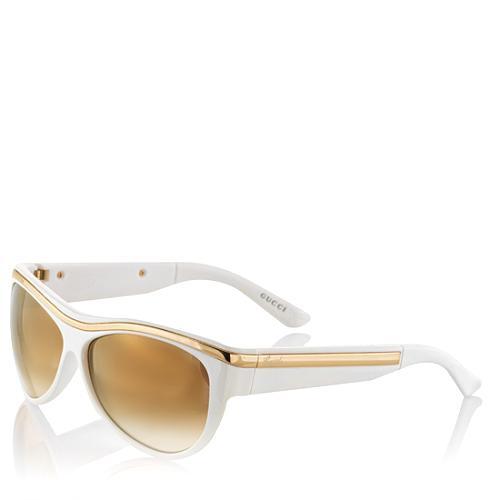 Gucci Gold Detail Aviator Sunglasses