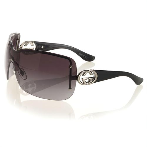 Gucci Large Rimless Shield Sunglasses
