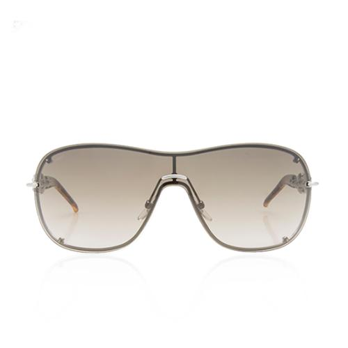 Gucci Marina Chain Crystal Aviator Sunglasses