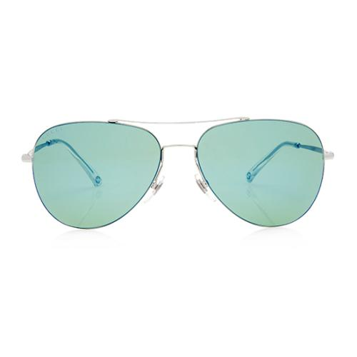 Gucci Mirrored Ultra Light Aviator Sunglasses