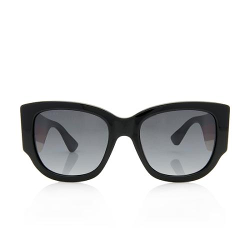 Gucci Oversized Rectangle Stripe Sunglasses