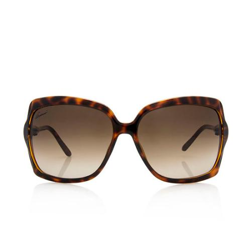 Gucci Oversized Square Bamboo Sunglasses
