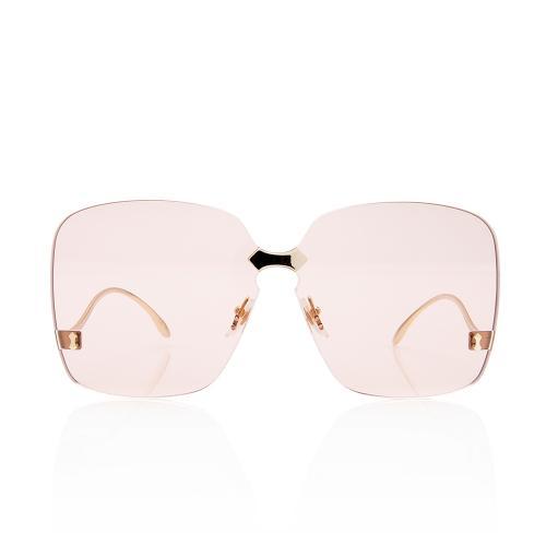 Gucci Rimless Square Sunglasses