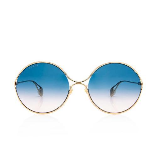 Gucci Round Metal Pearl Sunglasses