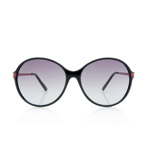Gucci Round Web Sunglasses