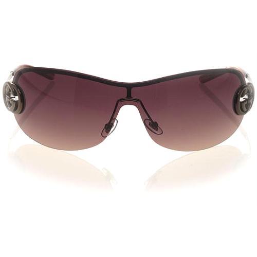 Gucci Semi Rimless Shield Sunglasses