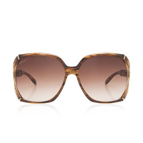 Gucci Square Bamboo Sunglasses