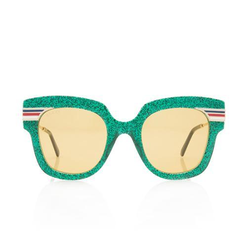Gucci Square Glitter Web Sunglasses