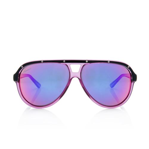 Gucci Transparent Aviator Sunglasses
