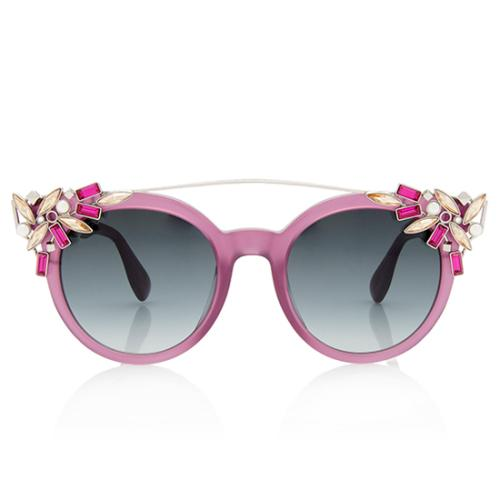 Jimmy Choo Cyrstal Vivy Sunglasses