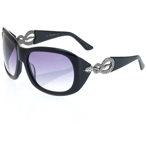 Kenneth Jay Lane Crystal Embellished Sunglasses