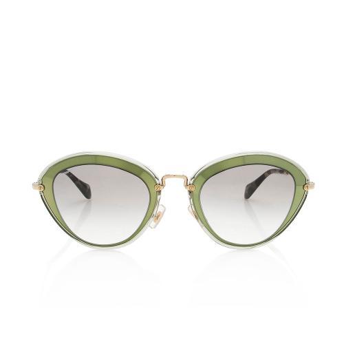 Miu Miu Metallic Round Sunglasses