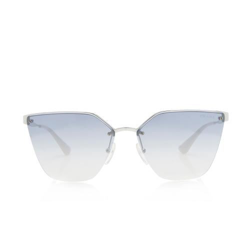 Prada Mirrored Rimless Gradient Sunglasses
