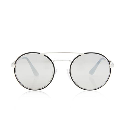 Prada Mirrored Round Aviator Sunglasses