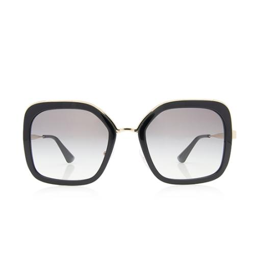 Prada Square Metal Sunglasses