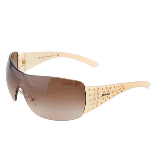 43861054e149 Prada Studded Shield Sunglasses