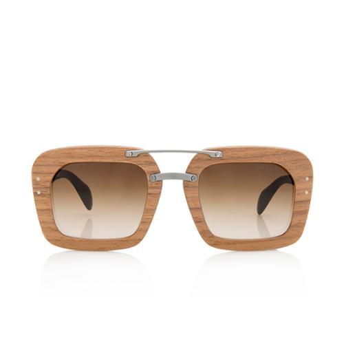 Prada Wood Frame Sunglasses