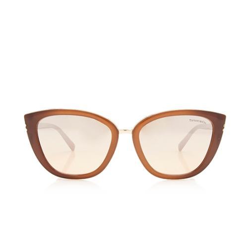 Tiffany & Co. Mirrored Cat-Eye Double T Sunglasses