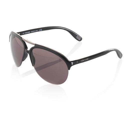 Tom Ford Ian Half-Rim Aviator Sunglasses