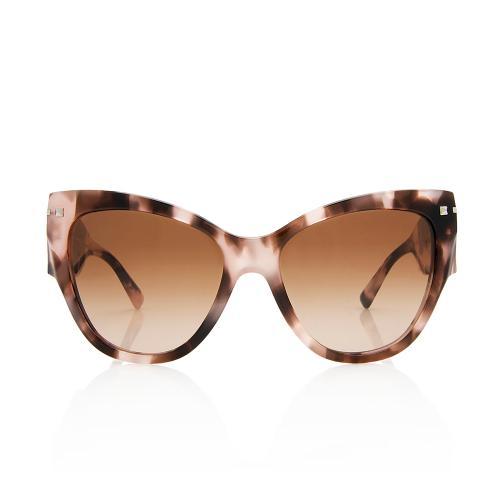 Valentino Cat-Eye Rockstud Sunglasses