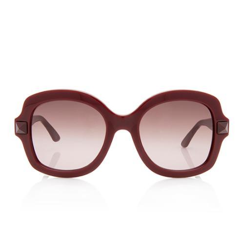 Valentino Rockstud Oversized Sunglasses