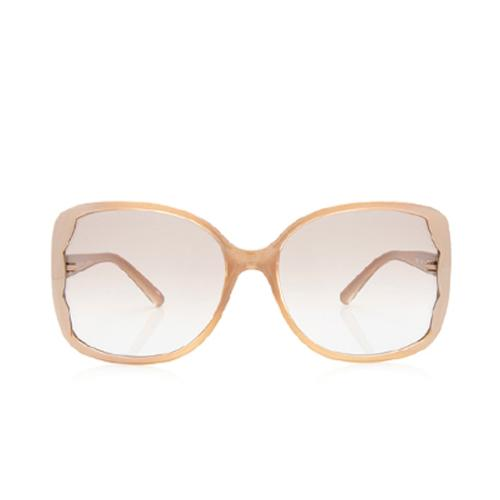 Valentino Scalloped Rectangular Sunglasses