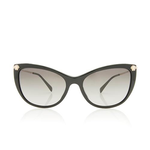 Versace Crystal Cat-Eye Medusa Sunglasses