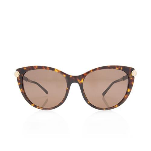 Versace Leather Cat-Eye Medusa Sunglasses