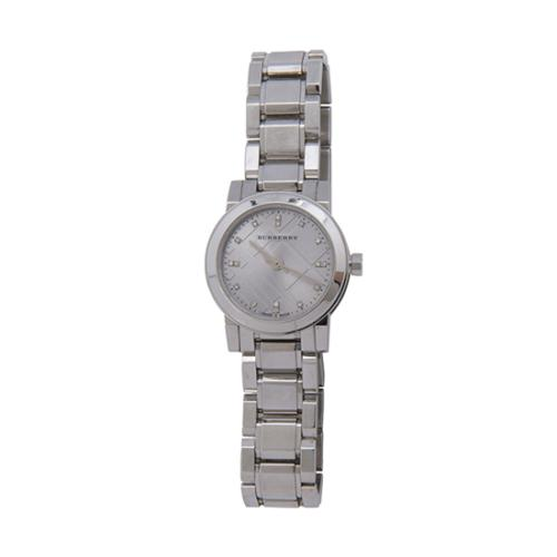 Burberry Diamond Check Round Watch