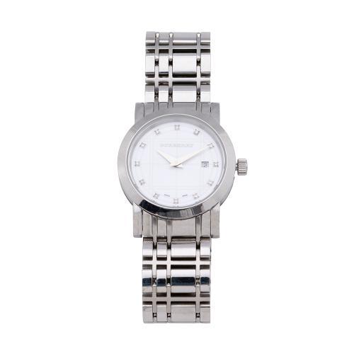 Burberry Stainless Steel Diamond Heritage Watch