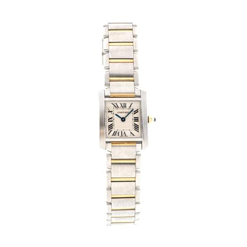 Cartier Tank Francaise Stainless Steel and 18K Gold Watch