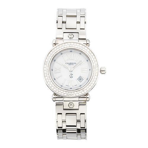 Charriol Rotonde Small Round Diamond Bezel Watch