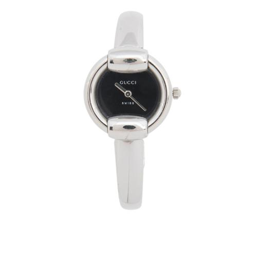 Gucci Stainless Steel Round Bangle Watch