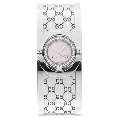 Gucci Stainless Steel and Diamond Twirl Watch