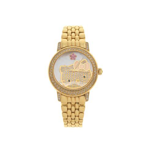 Hello Kitty by Kimora Lee Simmons Gold and Diamond Watch