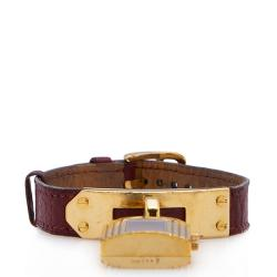 Hermes Leather Epsom Kelly Watch