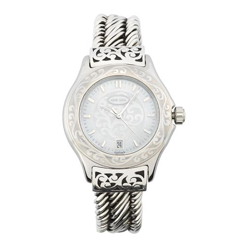 Lois Hill Large Signature Scroll Watch