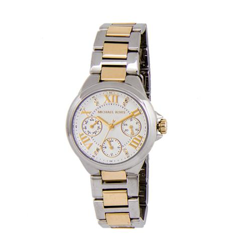 Michael Kors Camille Two Tone Crystal Chronograph Watch
